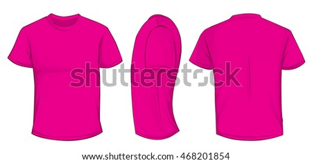 Tee side stock photos royalty free images vectors for Pink t shirt template