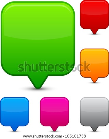 Vector illustration of blank speech bubbles. - stock vector