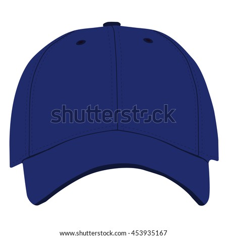 stock vector illustration blue baseball cap front view isolated white background jays uk hat canada nike
