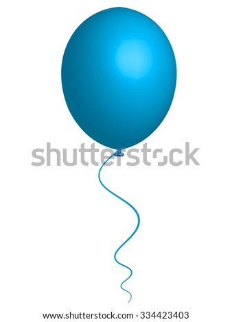 Vector illustration of blue sky balloon