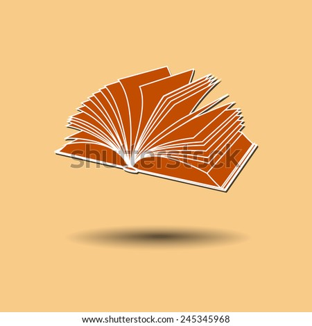 Vector illustration of book against color background.