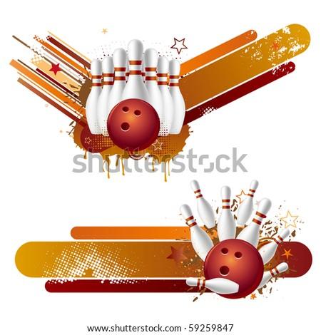 vector illustration of bowling strike - stock vector