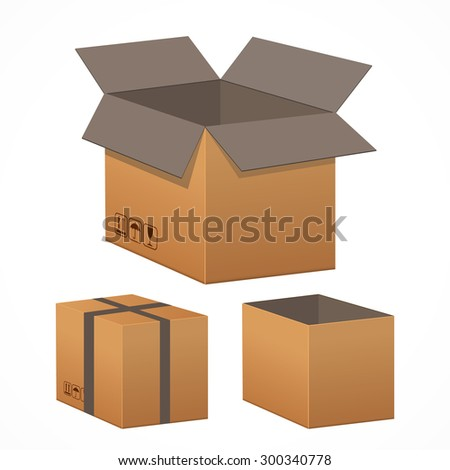 Vector illustration of boxes.