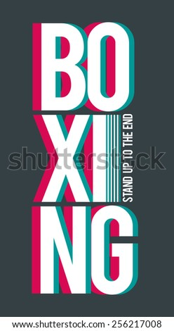 vector illustration of boxing sport for real men,  design for t-shirts,vintage design - stock vector