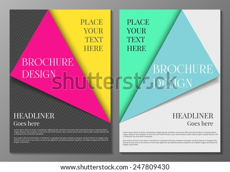 Vector illustration of  brochure cover abstract design template  - stock vector