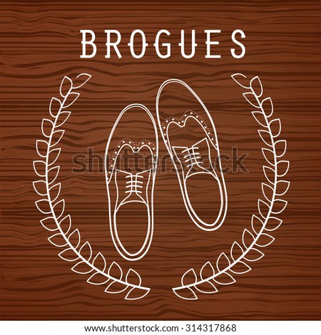 Vector illustration of brogues - stock vector
