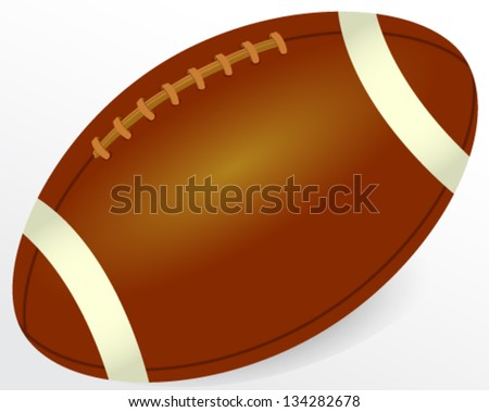 Vector illustration of brown rugby ball - stock vector