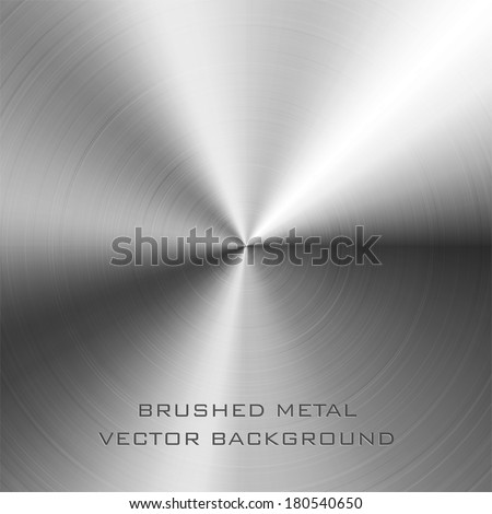 Vector illustration of brushed metal background - stock vector