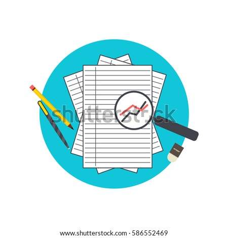 Vector Illustration Business Analysis Report Stock Vector