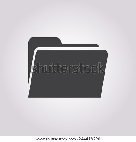 vector illustration of business and finance icon folder - stock vector