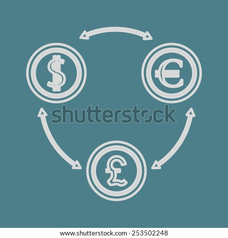vector illustration of business and finance icon money
