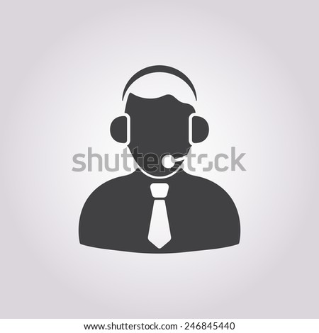 vector illustration of business and finance icon person - stock vector