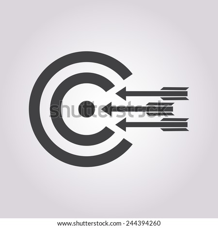 vector illustration of business and finance icon target - stock vector