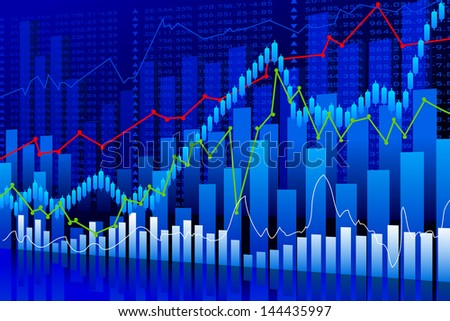 vector illustration of business graph background