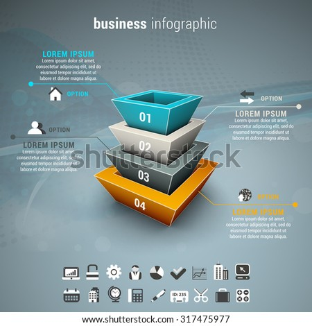 Vector illustration of business infographic.