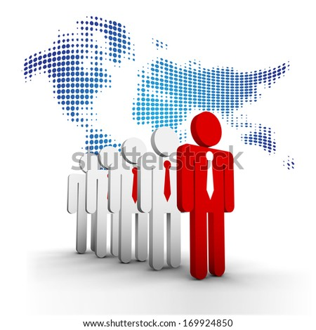 Vector illustration of business people. - stock vector