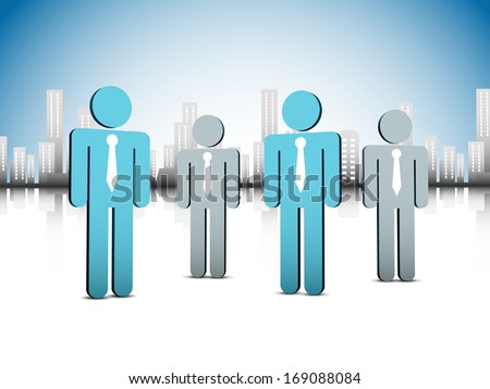 Vector illustration of business people. EPS10 file. Contains blending mode.
