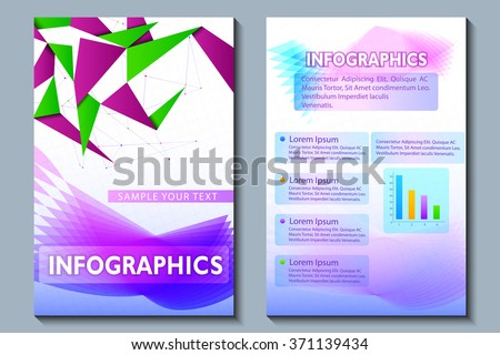 vector illustration of business presentation broucher design - stock vector