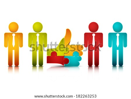 Vector illustration of business team.