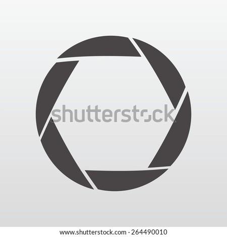 Vector illustration of camera shutter, isolated - stock vector
