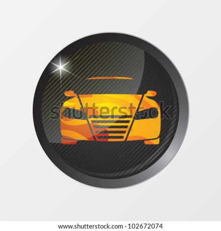 Vector illustration of car - stock vector