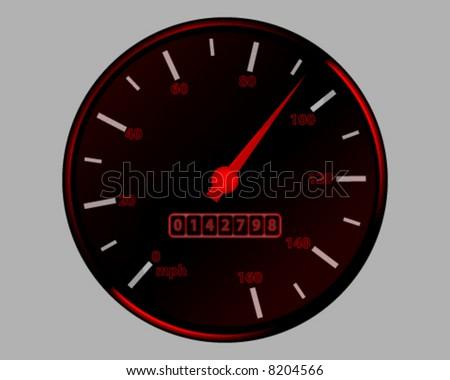 vector illustration of car speedometer - stock vector