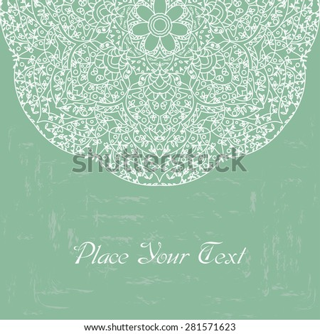 Vector illustration of card with ornament.