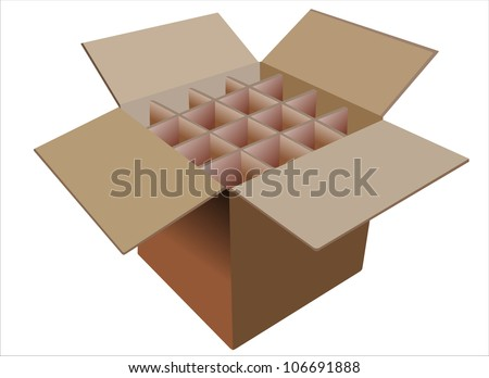 Vector illustration of Cardboard Boxes - stock vector