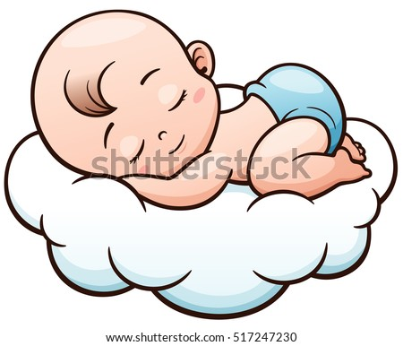Vector illustration cartoon baby sleeping on stock vector 517247230 vector illustration of cartoon baby sleeping on a cloud voltagebd Image collections