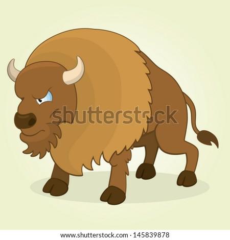 how to draw a cartoon buffalo