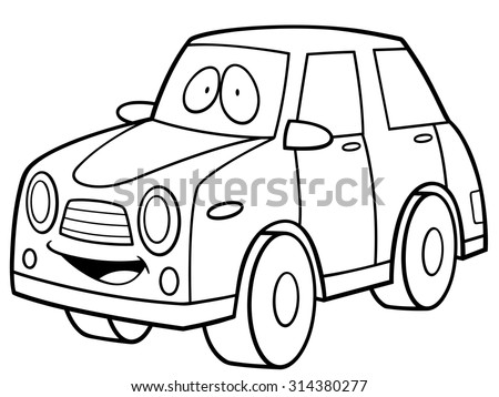 Vector Illustration Of Cartoon Car