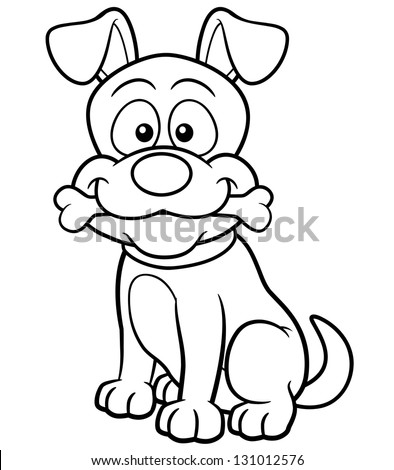 Vector Illustration Cartoon Dog Coloring Book Stock Vector HD ...