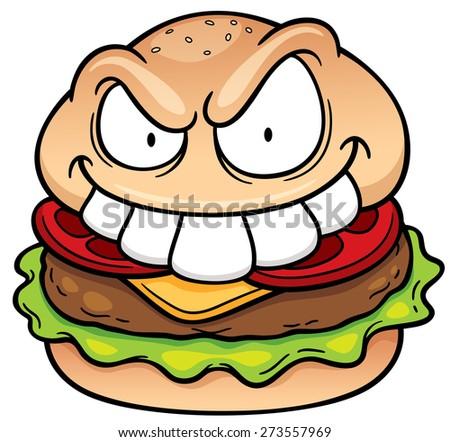 vector illustration cartoon hamburger stock vector 273557969 rh shutterstock com cartoon burger pictures cartoon burger vector