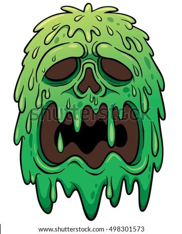 vector illustration cartoon monster face stock vector hd (royalty