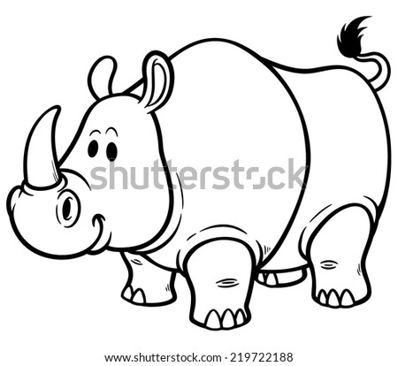 Stock Images similar to ID 185431562 - rhino running vector...
