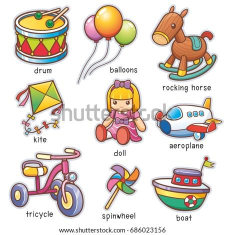 Vector Illustration Cartoon Toys Vocabulary Stock Vector ...