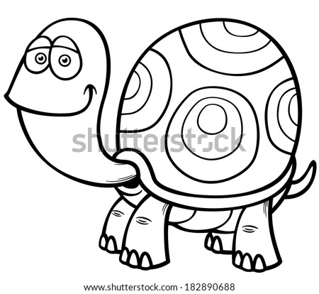 turtle cartoon coloring pages - photo#34