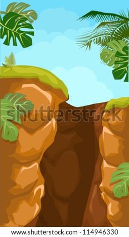 Vector Illustration of cave - stock vector