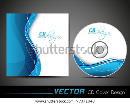 Vector illustration of CD cover design template with copy space. EPS 10, easy to edit. - stock vector
