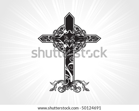vector illustration of celtic pattern isolated cross - stock vector