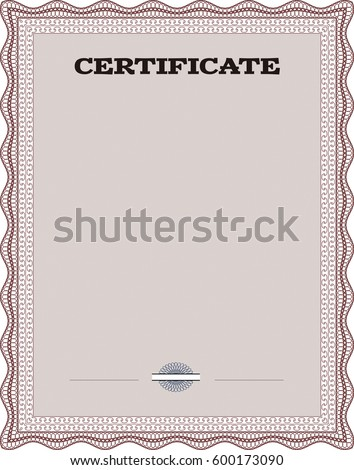 Vector illustration of certificate template of achievement diploma vector illustration design completion