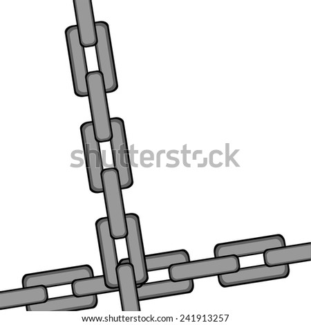 Vector illustration of Chain.