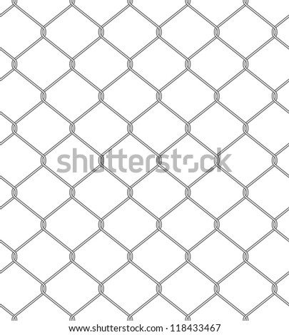 Vector illustration of chain fence. Seamless pattern