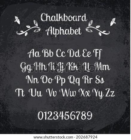 FREE Printable Chalkboard Letters – So cute!
