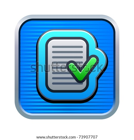 Vector illustration of check list icon - stock vector