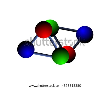 Vector illustration of chemical compound logo for your design.