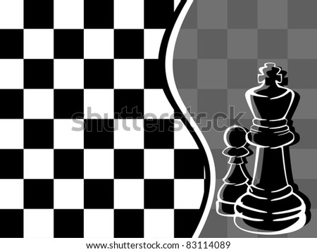 vector illustration of chess - stock vector