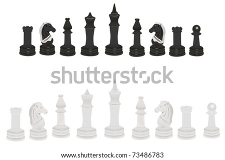 Vector illustration of chess under the white background - stock vector