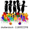 vector illustration of children - stock vector