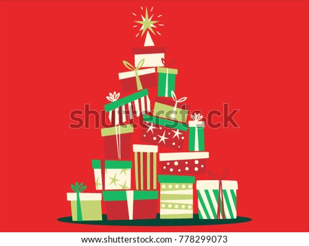 Vector illustration of Christmas Gifts